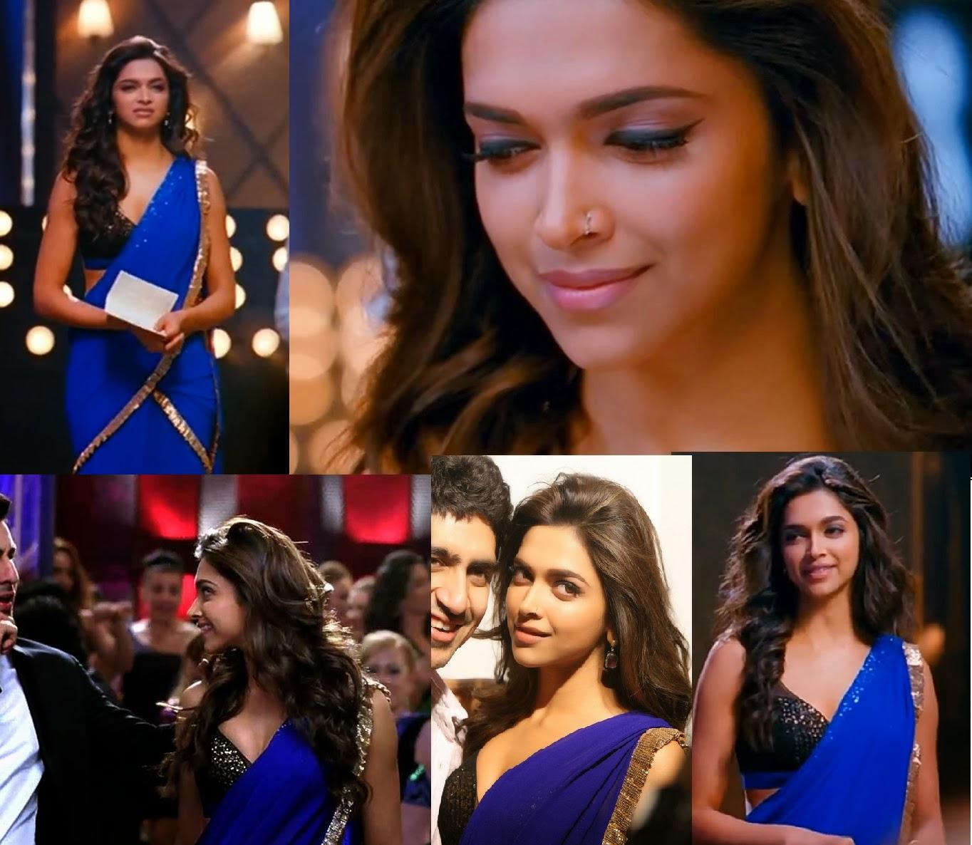 bollywood ishtyle: deepika's glamorous saris in 'yeh jawaani hai