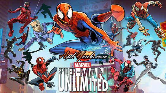 Download Game Spider-Man Unlimited - VER. 1.6.1b (Mega mod) Apk data android
