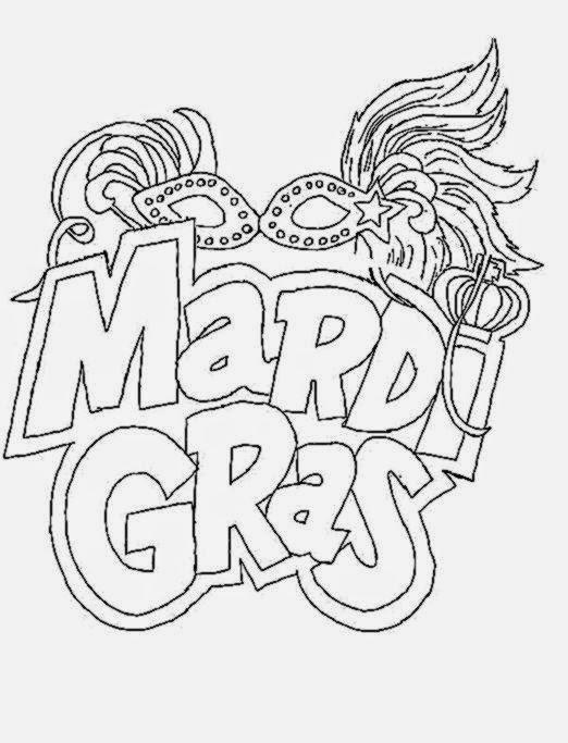 Mardi Gras Coloring Sheets | Free Coloring Sheet