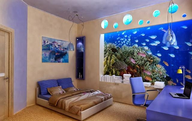 Decorar interiores con peceras y acuarios decoraci n del - Peceras en casa ...