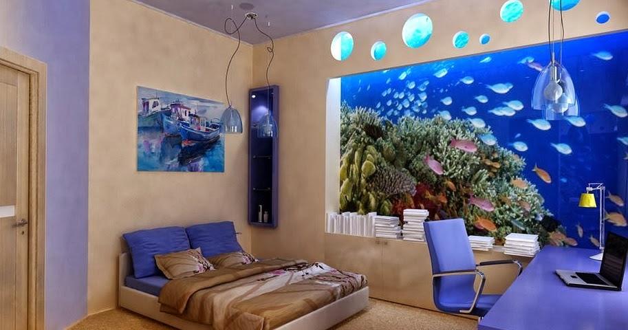 Decorar interiores con peceras y acuarios dise o y decoraci n - Peceras de diseno ...