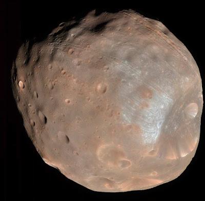 Lua do Planeta Marte Phobos
