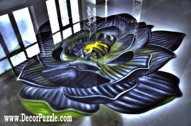 3d floor art murals and self-leveling floor,modern flooring ideas 2015