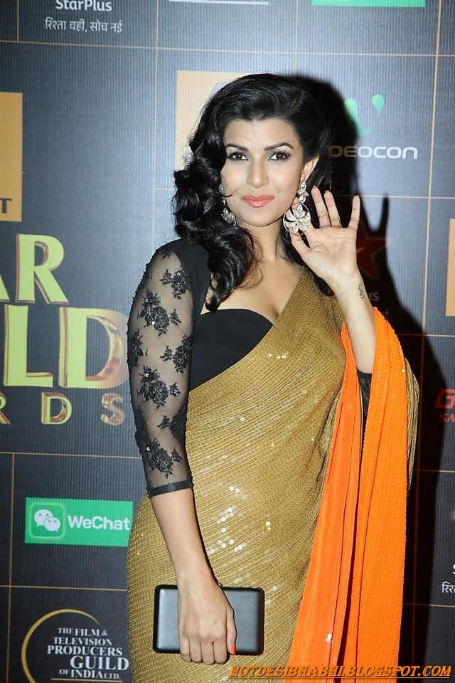 Nimrat Kaur Hot in Saree Wallpaper
