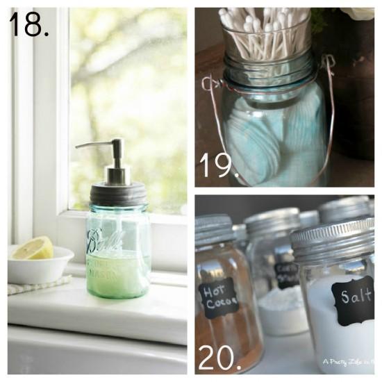 Twc decorating with mason jars for Mason jar bathroom ideas
