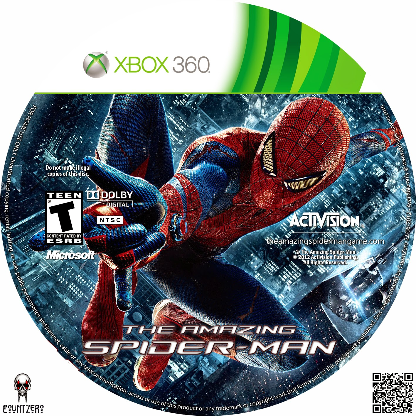 Capa The Amazing Spider Man XBOX 360