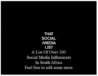 That Social Media List