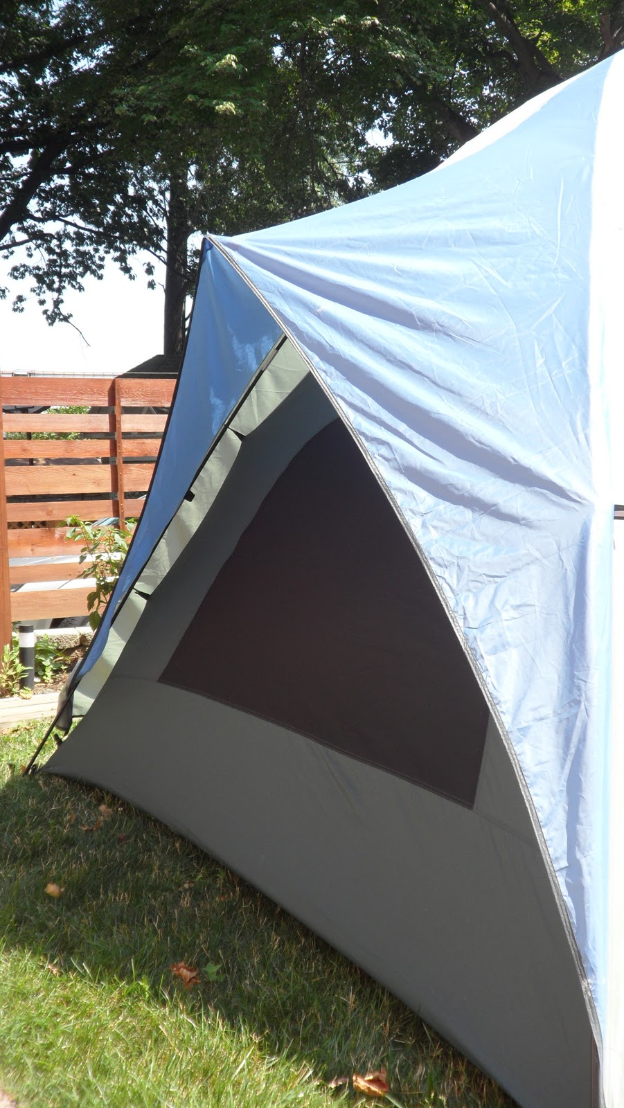 Rear of the tent with rain-fly as an awning & L.L. Bean Dome Tent 6 For Sale: L.L. Bean Dome Tent 6 For Sale