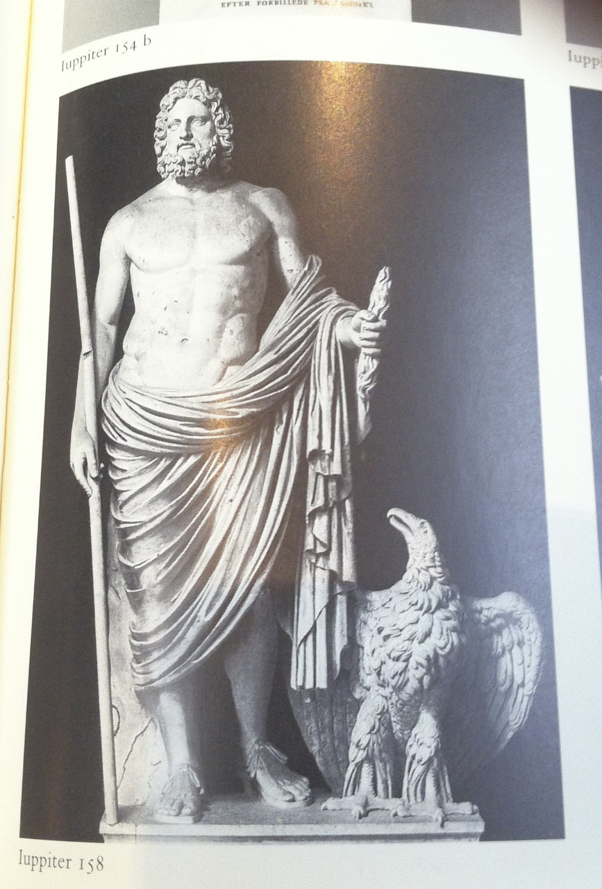 Ancient roman eagles and eagles with snakes tom swope gallery photo taken of an illustration in a book showing a statue of zeus with his eagle biocorpaavc