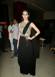 Actress Amyra Dastur Picture Gallery in Long Dress at Anekudu Audio Launch  31.JPG