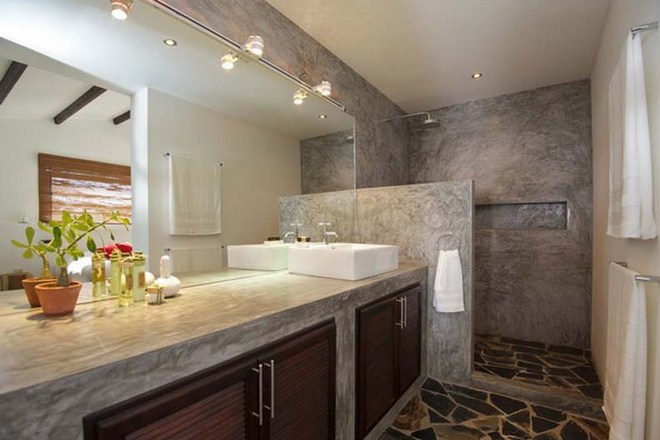 Innovative Modern Bathroom Designs With Stone Walls And Tiles Hag Design