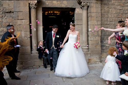 fotografia boda pétalos