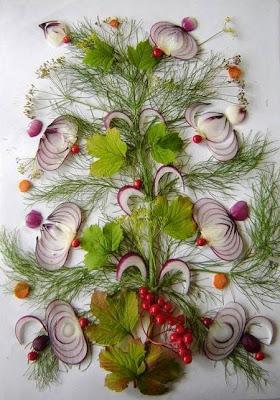 Food art ; beautiful onion