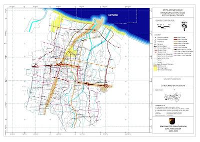 Peta Penetapan Kawawasan Strategis Kota Pekalongan