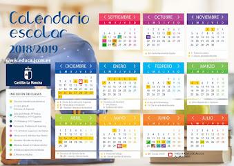CALENDARIO ESCOLAR DE ALMAGRO 2018/2019