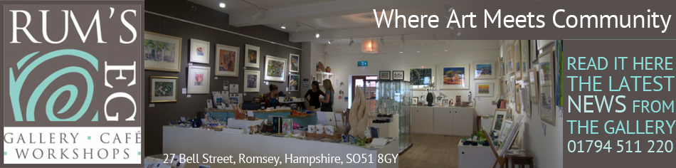 Latest News from Rum's Eg Gallery and Cafe