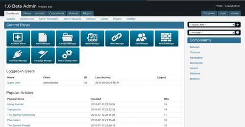 Levan design adminpraise lite free joomla 16 admin template maxwellsz