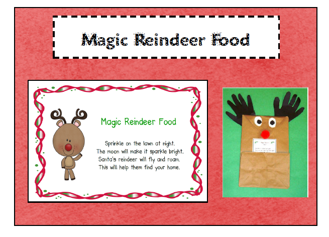Reindeer Food Poem http://candokinders.blogspot.com/2011/11/little-bit-of-magica-freebie-and-more.html