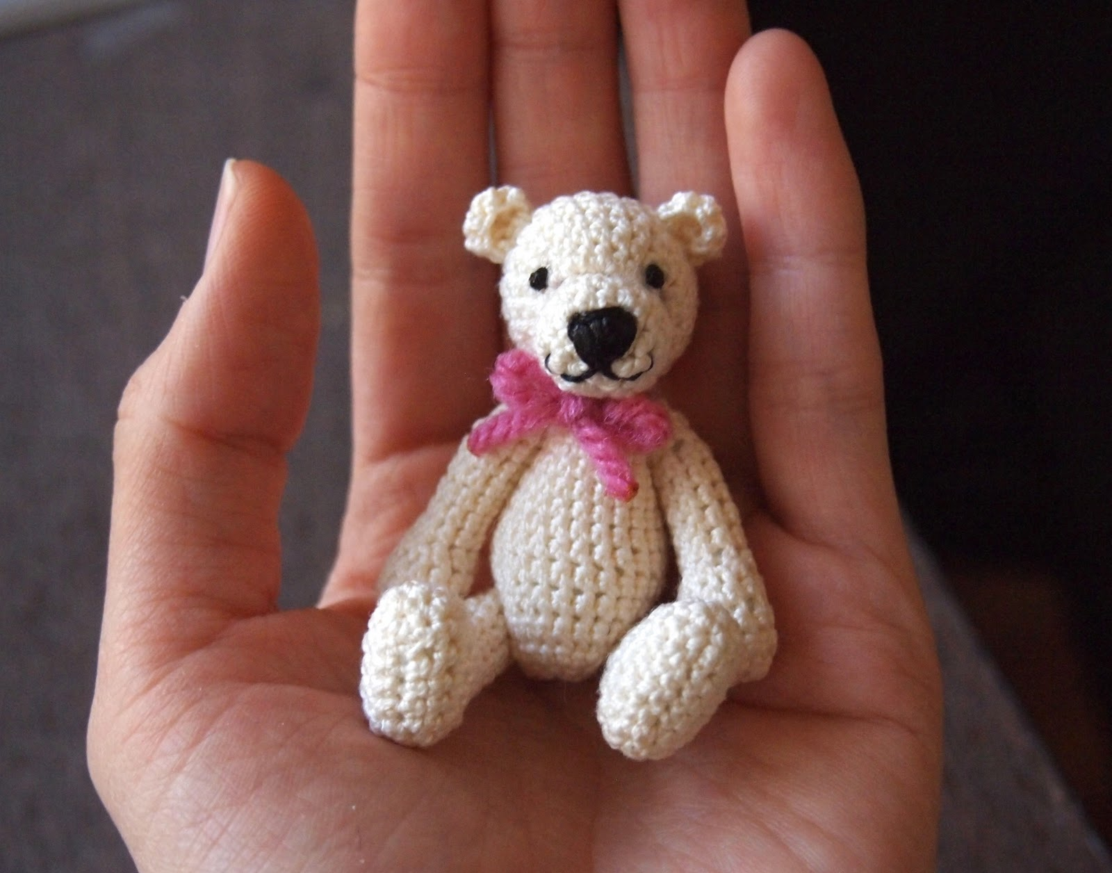 Free Crochet Mini Teddy Bear Pattern : Crafters Delights: More Miniature Crochet Teddy Bears