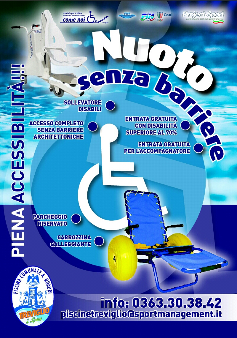 Comitato come noi treviglio bg nuoto senza barriere for Piscina quadri treviglio