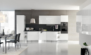 Modern Kitchen Designs with White Cabinet