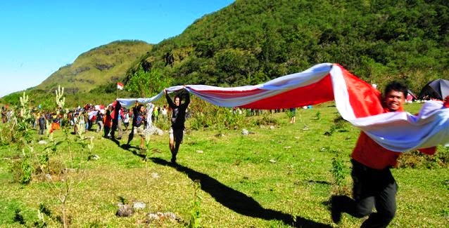 Merah Putih 178 Meter di Lembah Ramma