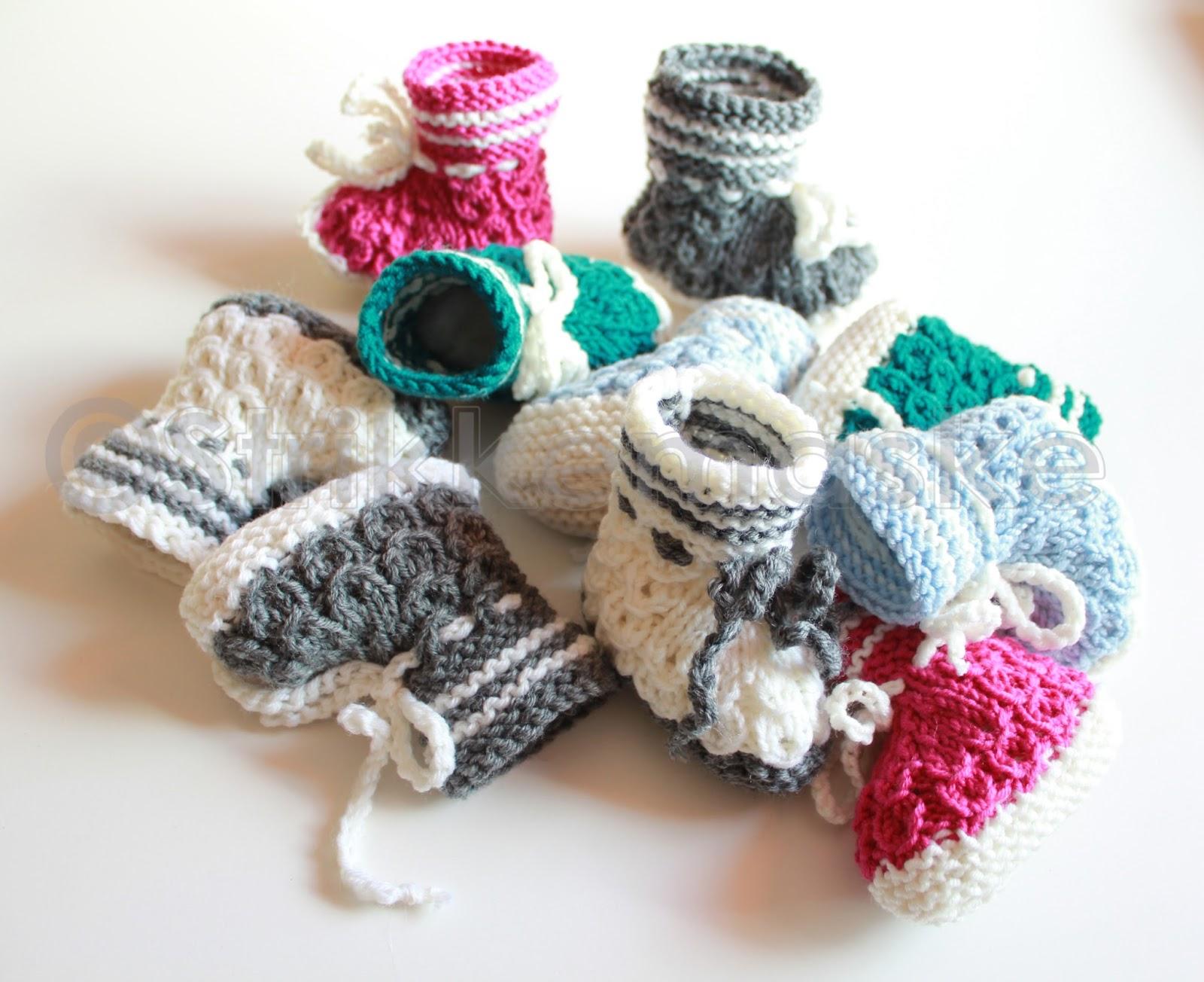 strikka babybooties
