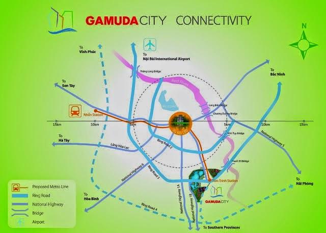 Vị trí khu đô thị gamuda gardens