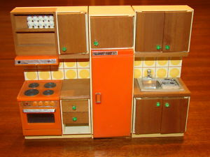 vintage lundby 1970s dollhouse kitchen - Dollhouse Kitchen