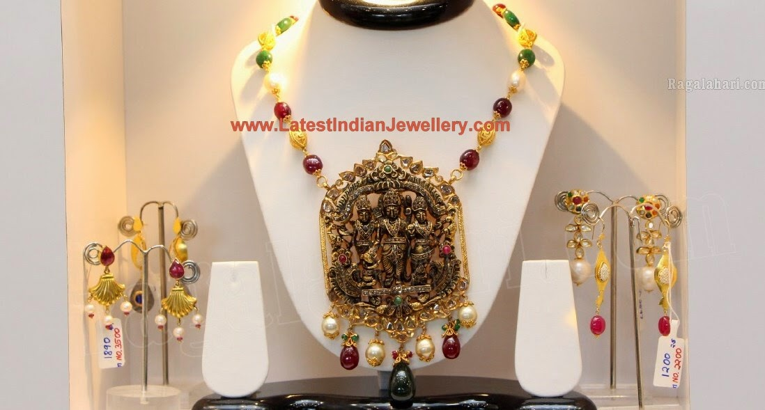 Temple Jewellery SitaRam Pendant
