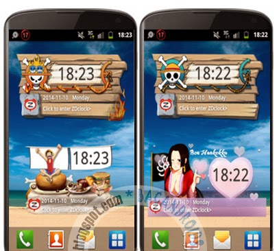 download Clock Widget Anime One Piece Android