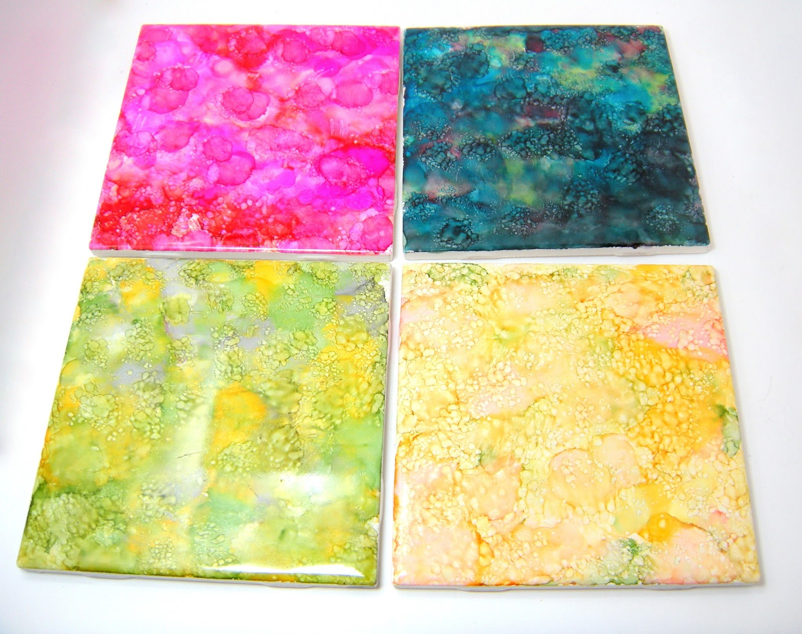 Accidentally excellent diy alcohol ink coasters 2 part tutorial baditri Images