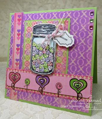 ODBD stamps, Canning Jars, Canning Jar Fillers, Blue Ribbon Winner, designed by Grace Nywening