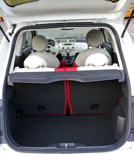 2012 Fiat 500 cargo area