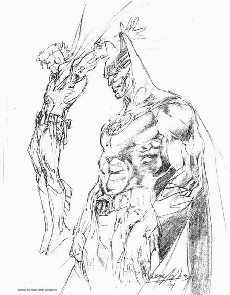 Sample page 1 of Neal Adams 2007 Sketchbook Convention Exclusive