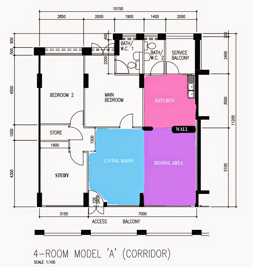 Kitchen Dining Family Room Layout: Aldora: HDB Resale Flat Journey Part 2: Interior Design