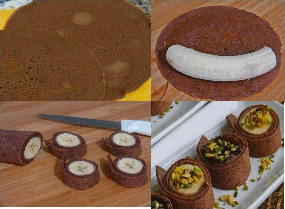 rotolini di crepes al cacao e banana (clicca e condividi)