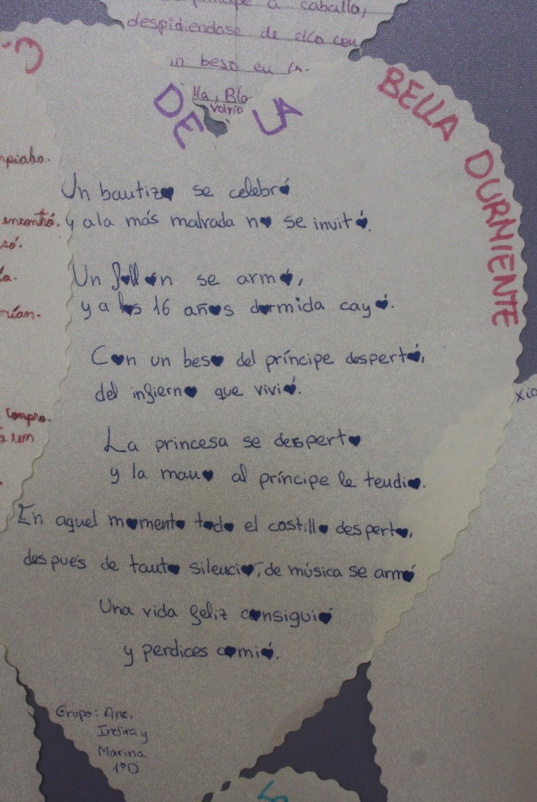 de poemas también por grupos se les entreguó varios poemas de ...