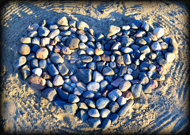 heart of stone on beach