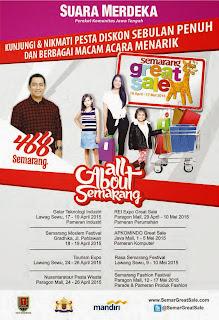 Jadwal Semarang Great Sale Semargres 2015
