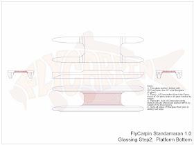 Standamaran SUP Plans Glassing Step 2