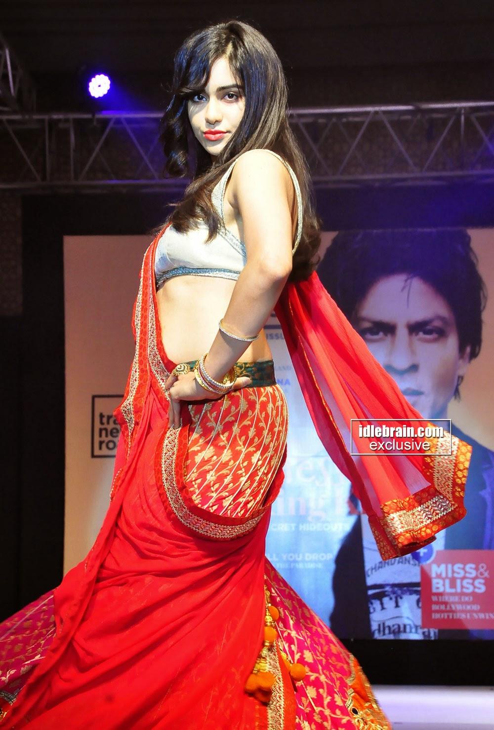 adah sharma in bridal half saree