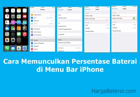 Cara Memunculkan Persentase Baterai di Menu Bar iPhone