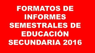 FORMATOS DE ED. SECUNDARIA 2016