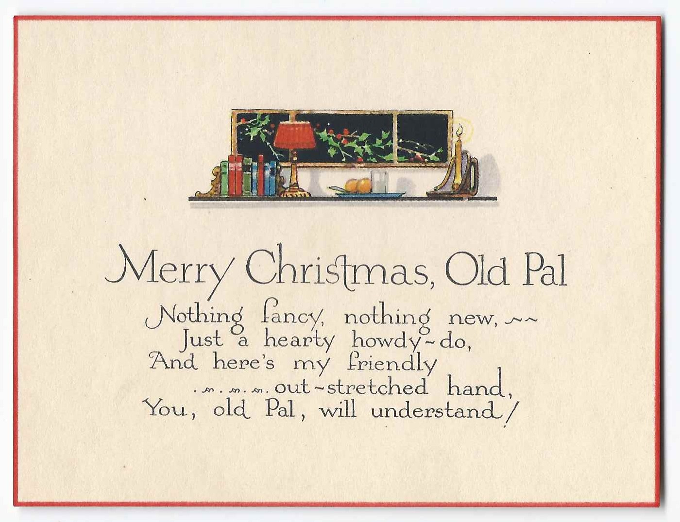 Heirlooms reunited two greeting cards sent to lawrence w strout at the card wishes merry christmas old pal m4hsunfo