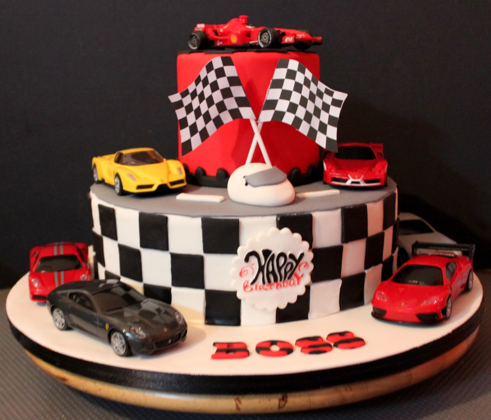 Ferrari Birthday Cake Designs
