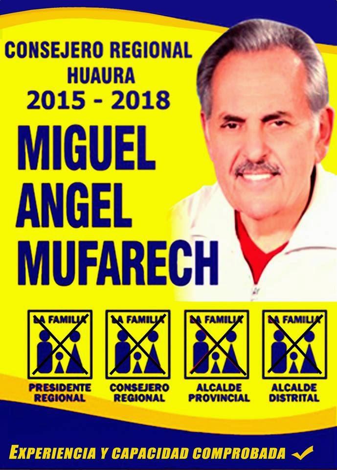 MUFARECH AL CONSEJO REGIONAL