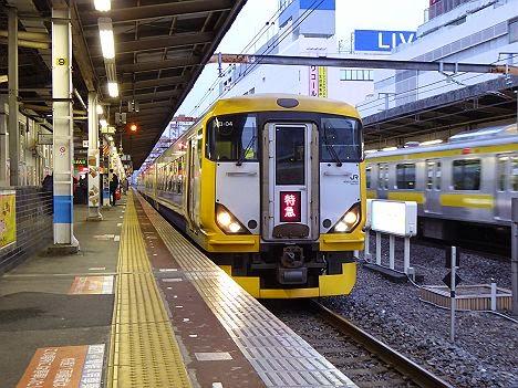 外房いすみ酒蔵開き号 新宿行き E257系