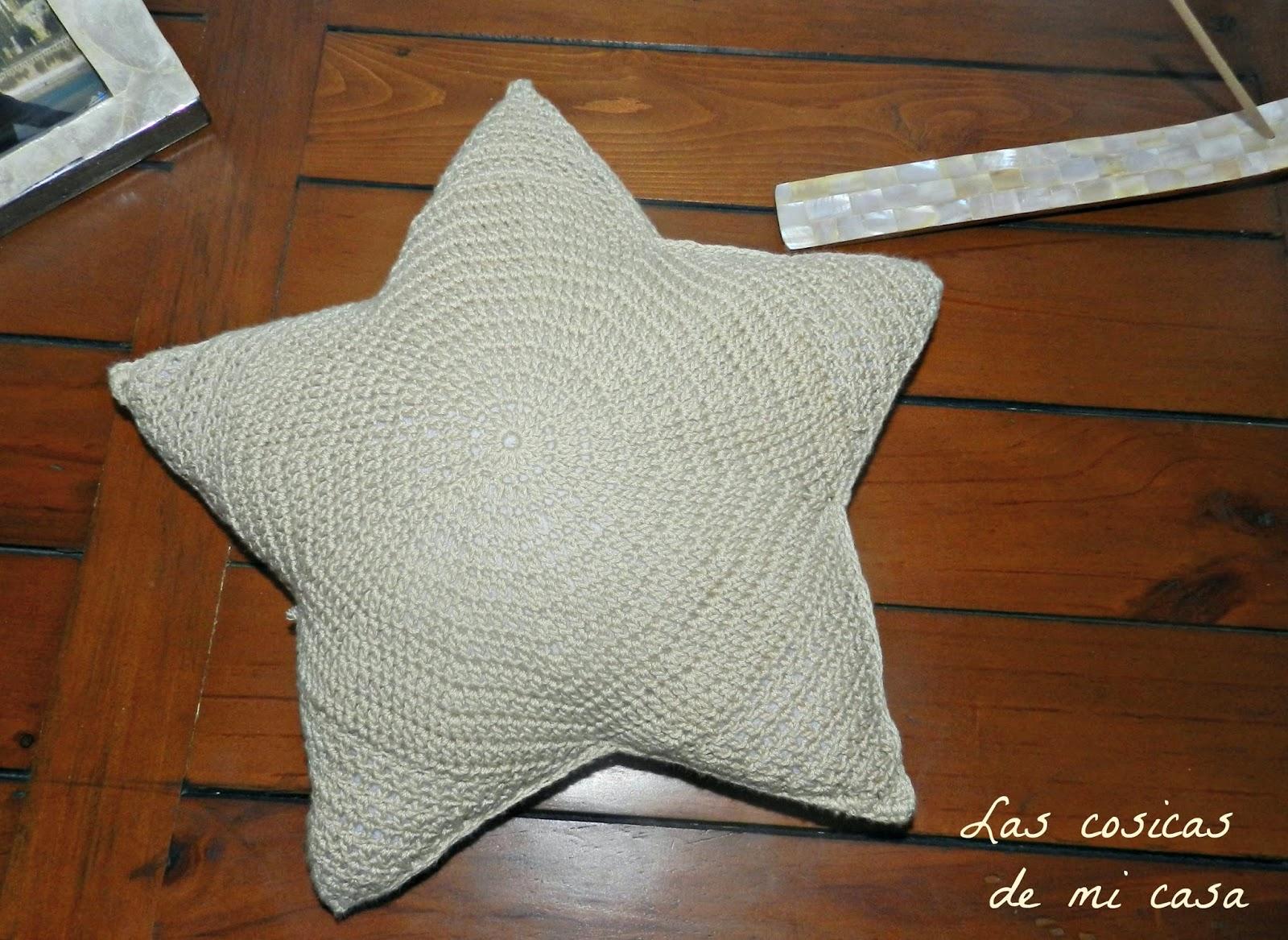 Las cosicas de mi casa: Cojín crochet estrella