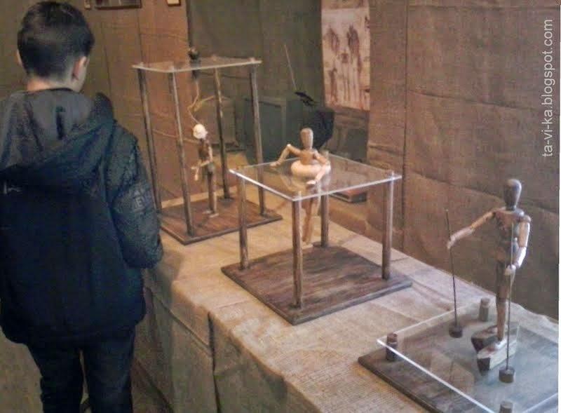 Выставка механизмов Леонардо да Винчи в музее